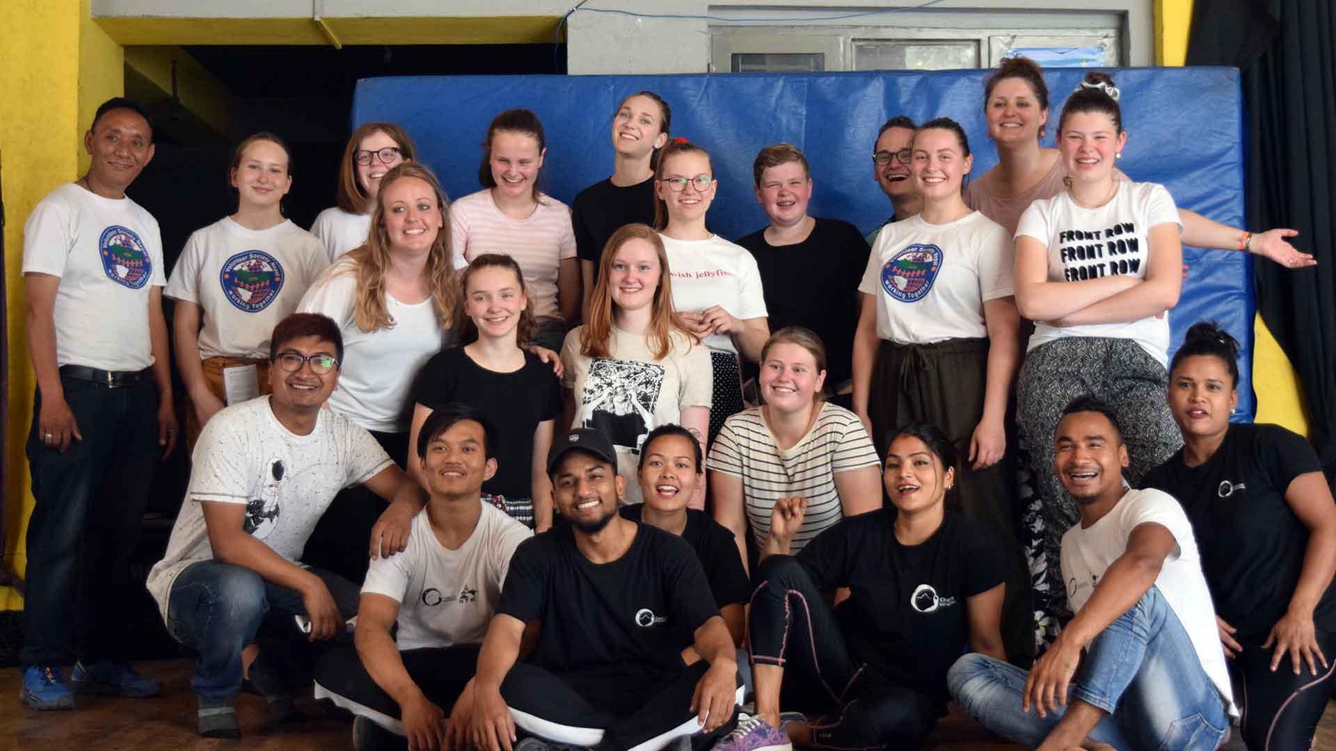 group volunteering nepal