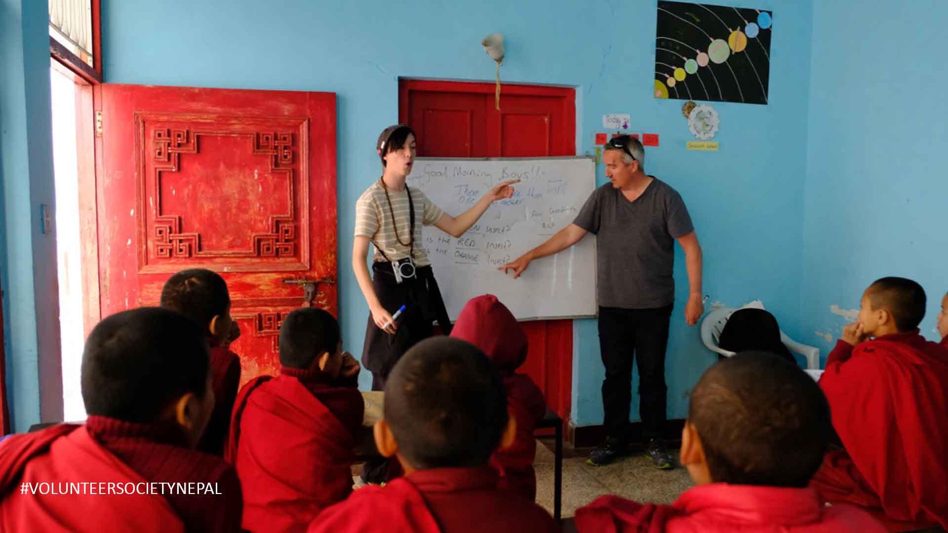 teaching english in buddhist monastery in nepal